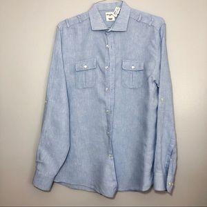 Baird McNutt Murano Slim Fit Linen Shirt